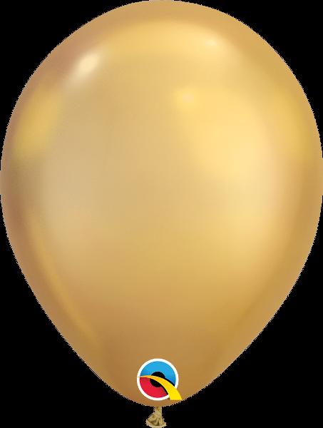 Воздушные шарики хром Золото