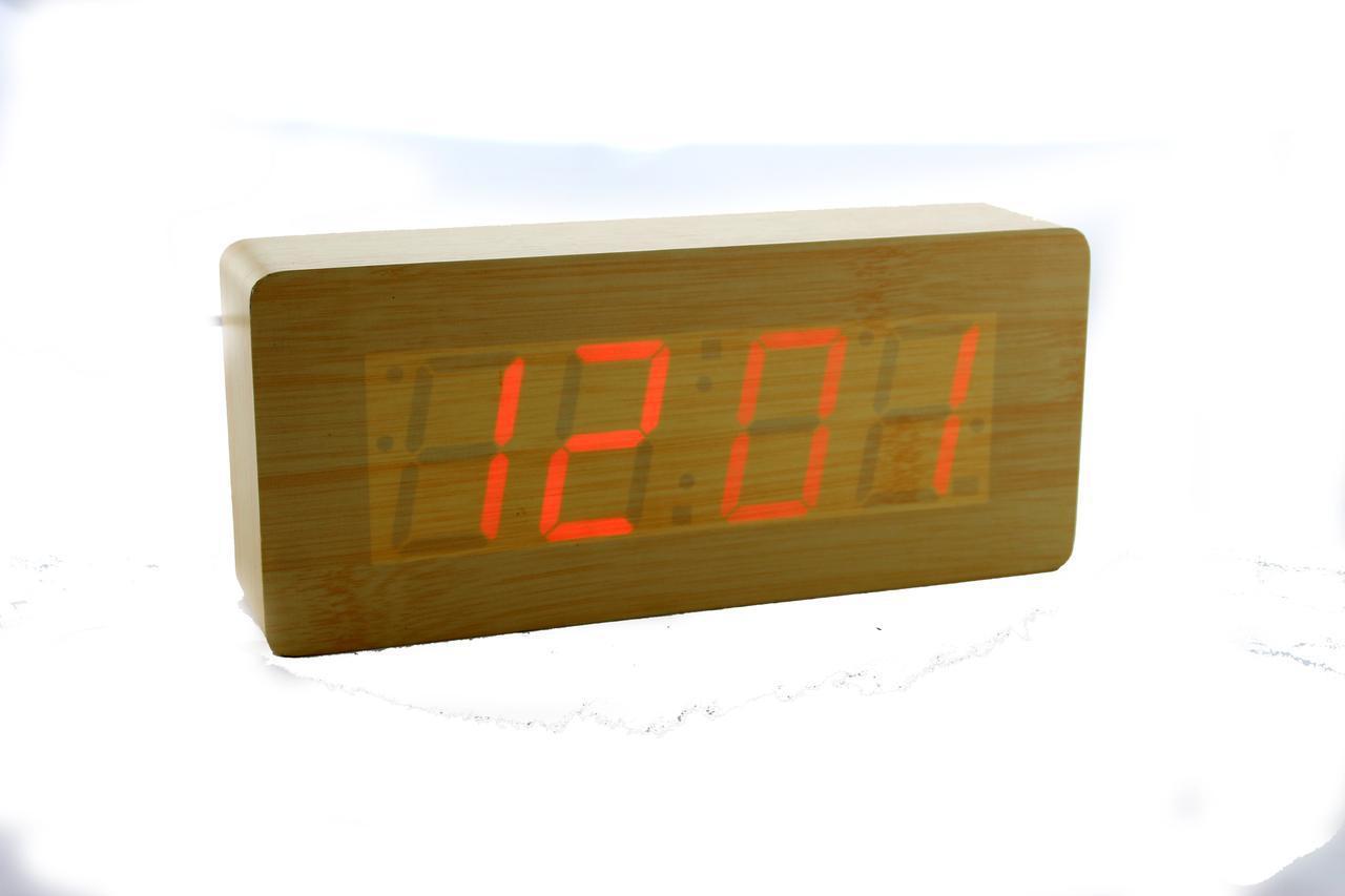 Электронные настольные часы с красной подсветкой VST-865-1
