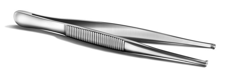 Пинцет хирургический, 150 мм