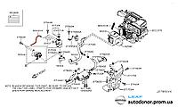 Шланг / випускний патрубок пічки печі Nissan Leaf ZE0 (10-13) 92415-3NA0A