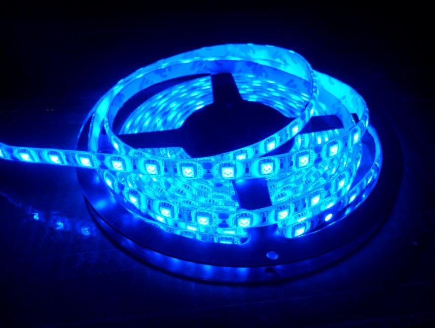 Светодиодная лента синяя LED 5050 Blue