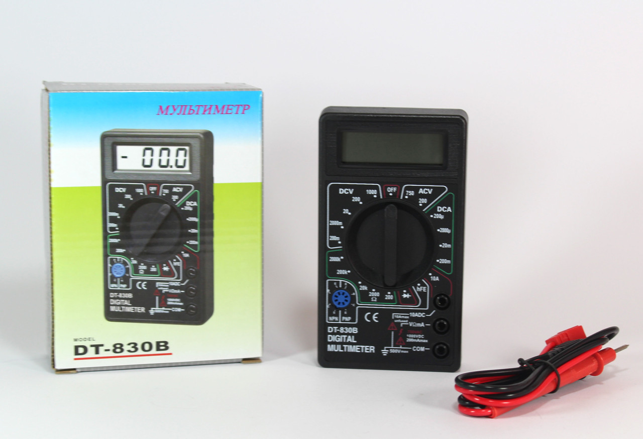 Мультиметр цифровой / тестер DT830B
