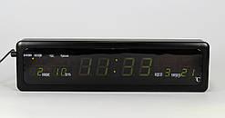 Электронные часы Led Clock CX 808 green с зеленой подсветкой