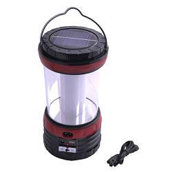 Кемпинговый светильник /Фонарик / лампа Yajia YJ- 5835 с солнечной панелью и USB