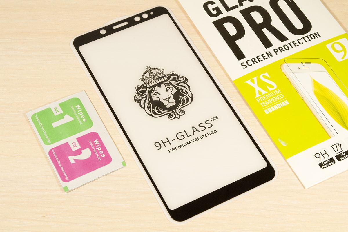 Защитное стекло Full Glue для Xiaomi Redmi Note 5 клей по всей поверхности (Black)