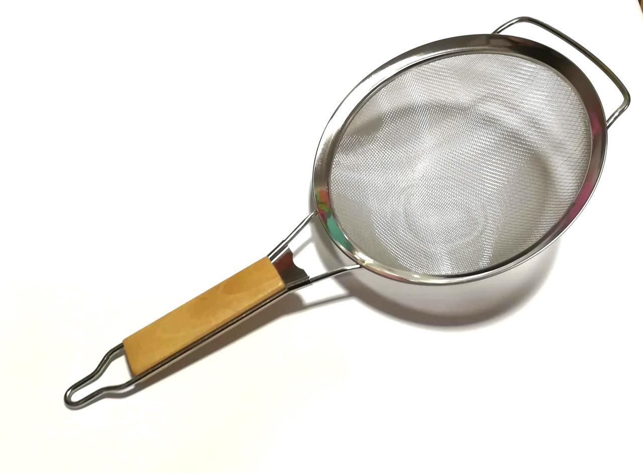 Сито кухонное с деревянной ручкой 20 см