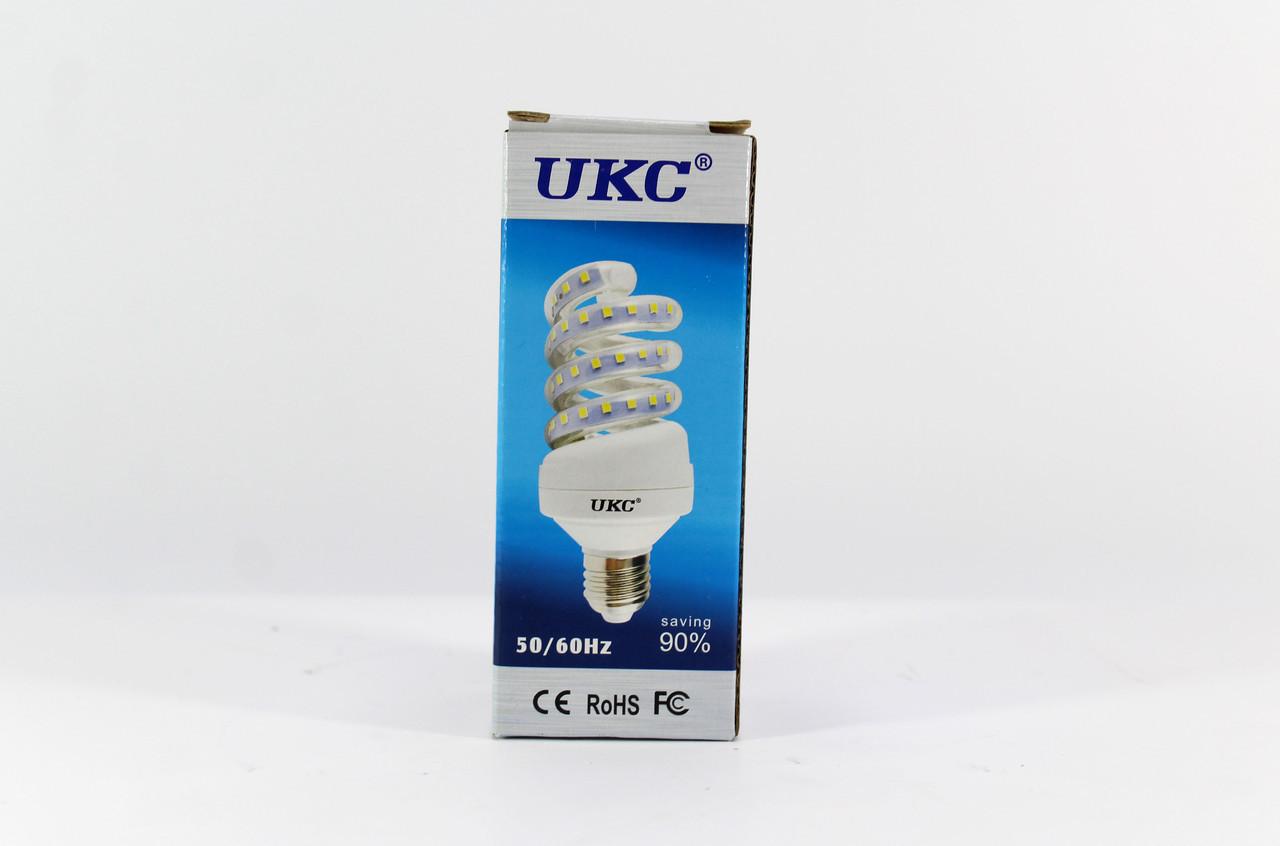 Лампочка Светодиодная UKC  LED LAMP E27 9W 4024 Спиральная / Энергосберегающая
