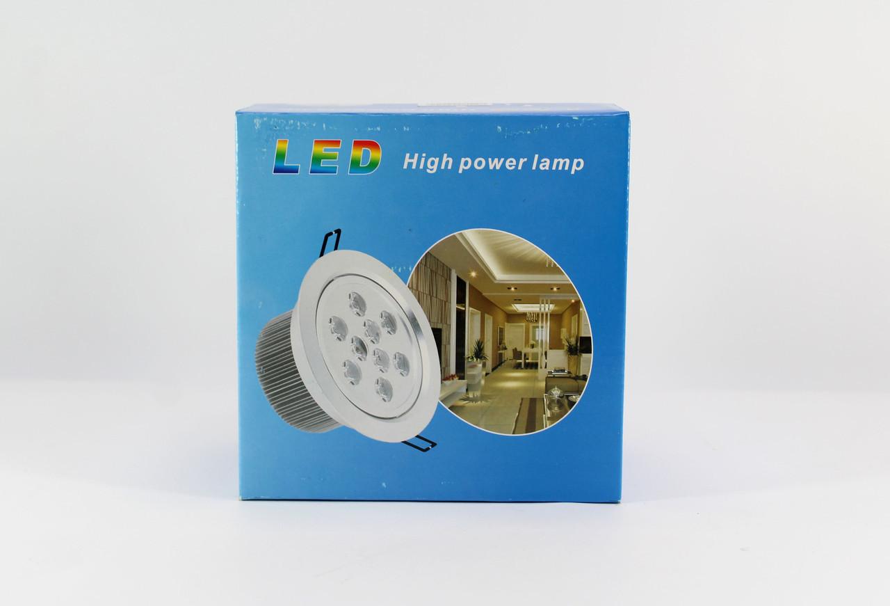 Светодиодная лед - лампа LED LAMP 9Wврезная круглая точечная 1404