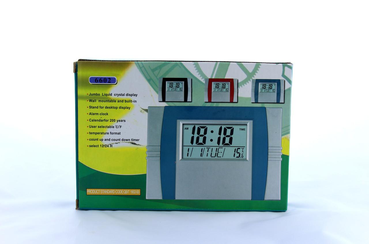 Настольные электронные часы KK 6602 с функцией будильника, календаря и выбором формата времени