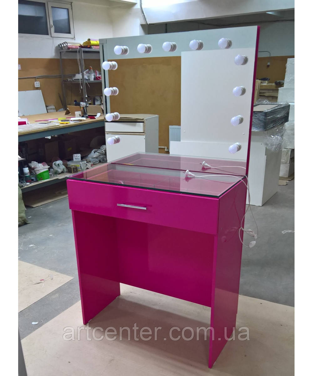 Визажный стол для яркого интерьера, стол визажиста