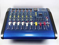 Профессиональный аудио микшерный пульт Mixer BT6300D 7ch. / 7  канальный