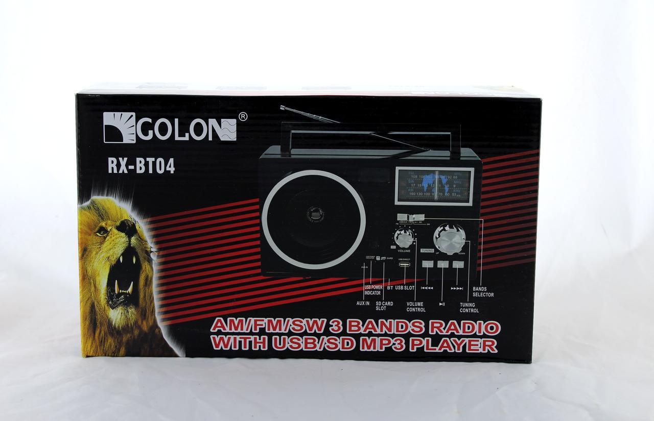 Радиоприемник Golon RX BT04 портативная колонка bluetooth / USB /SD / MP3/ FM