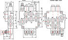 Гідророзподільник моноблочний GALTECH 1-6 секцій, фото 2