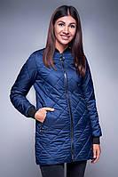 Женская куртка -  бомбер синего цвета, веса - осень