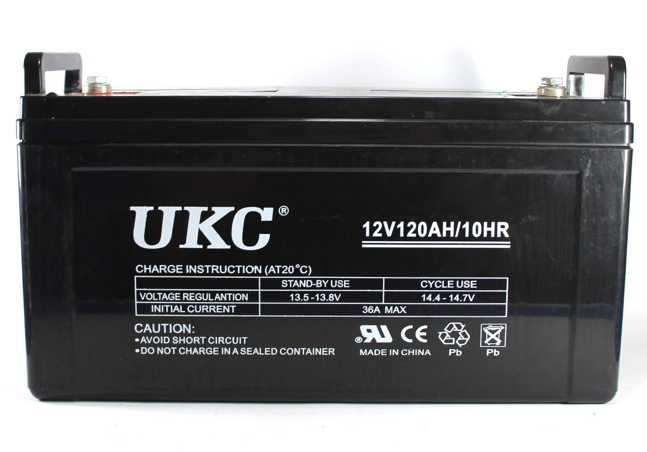 Гелевый аккумулятор UKC Battery Gel 12V 120A