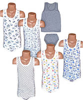 Детский комплект белья для мальчика, майка и трусы, р.р.24-36