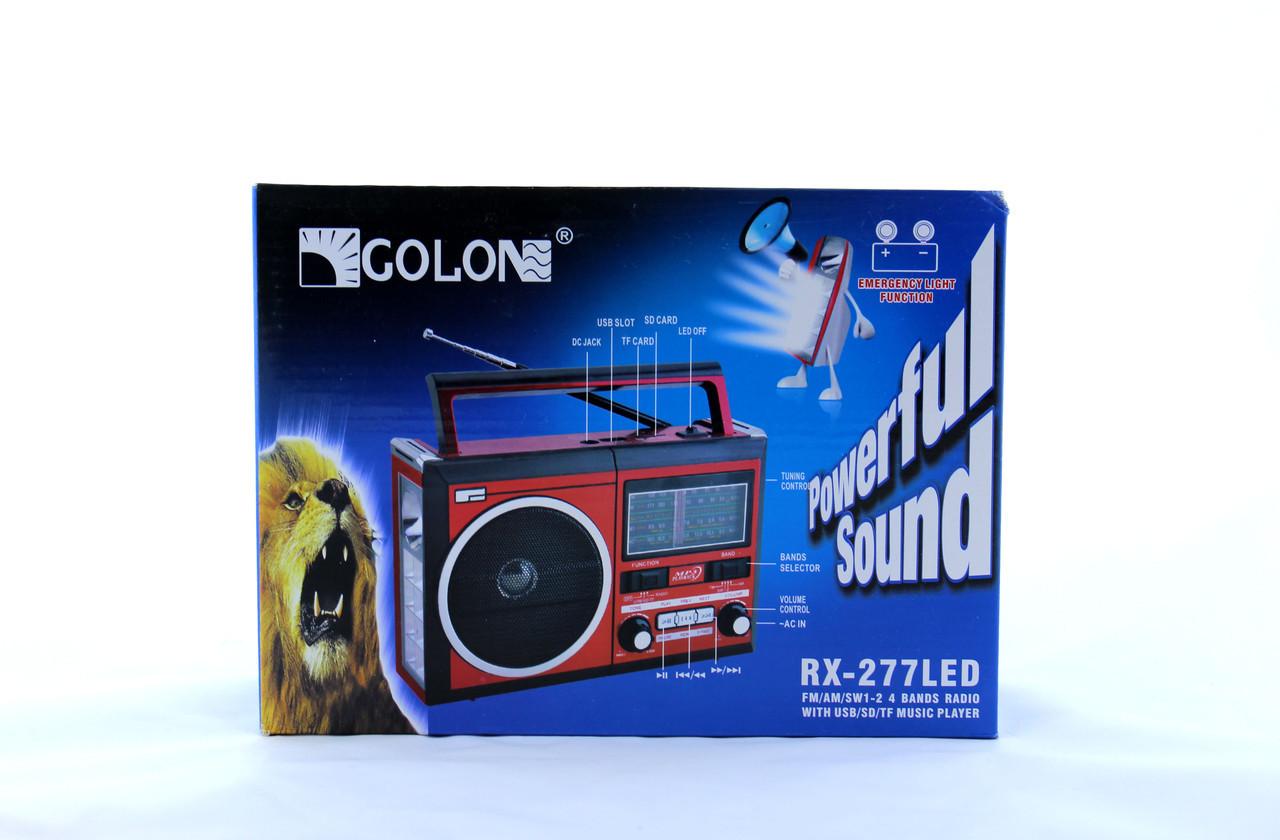 Радио RX 277 LED+LCD+Solar