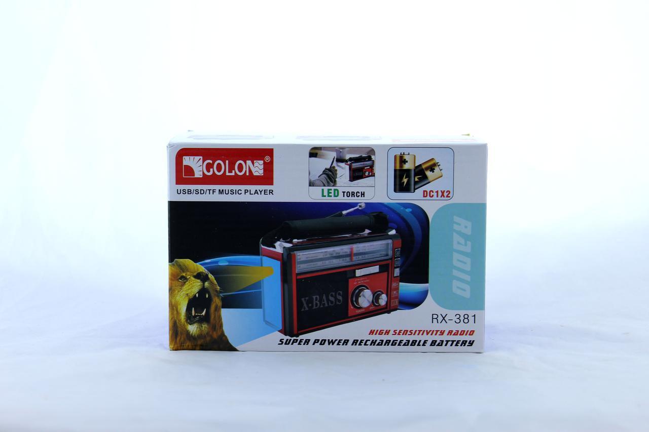 Радиоприемник с Led фонариком GOLON RX-382