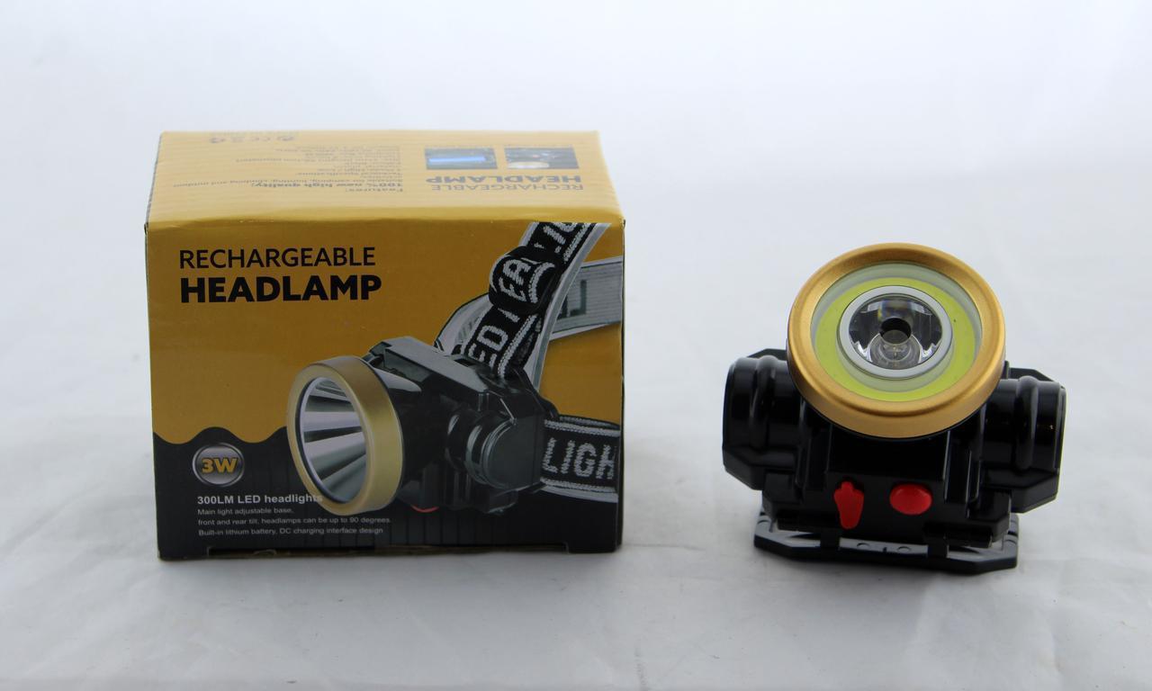 Налобний ліхтар LED 0509-2 COB акумуляторний / ліхтар на лоб