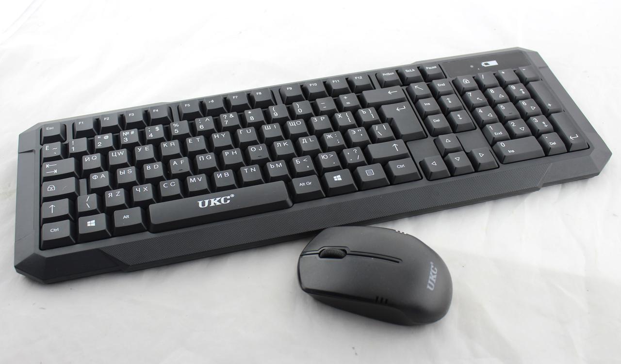 Профессиональная  / игровая / беспроводная клавиатура для ПК + мышь Combo UKC K118 (HK118)