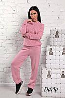 Женский вязаный персиковый костюм  Daria, фото 1