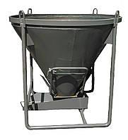 Бункер конусный для бетона БН -0,5 (V-0,5 куб.м, 130 кг, 1530/1530/1300), фото 1