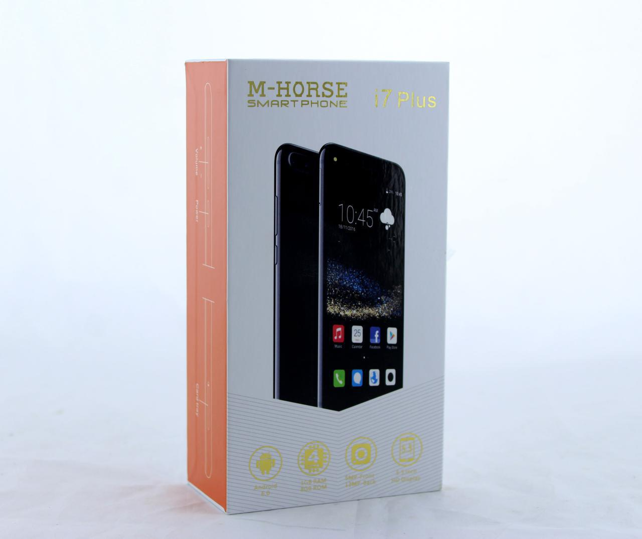 "Мобильный Телефон / смартфон M-Horse i7 Plus 5.5"" IP / face id/ Android  (Rose Sliver )"