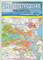 Карта областей Украины (Днепропетровская обл.)