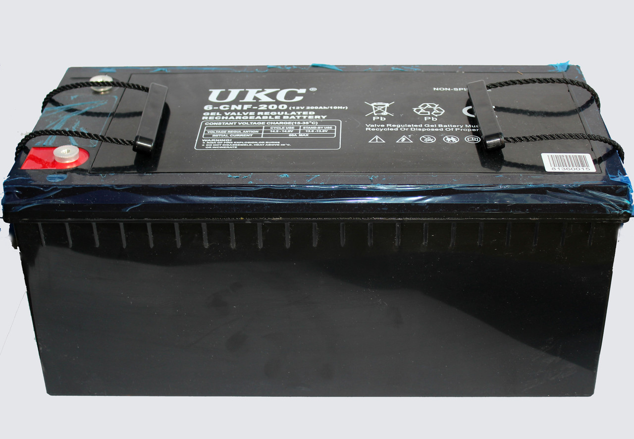 Аккумулятор BATTERY GEL 12V 200A UKC