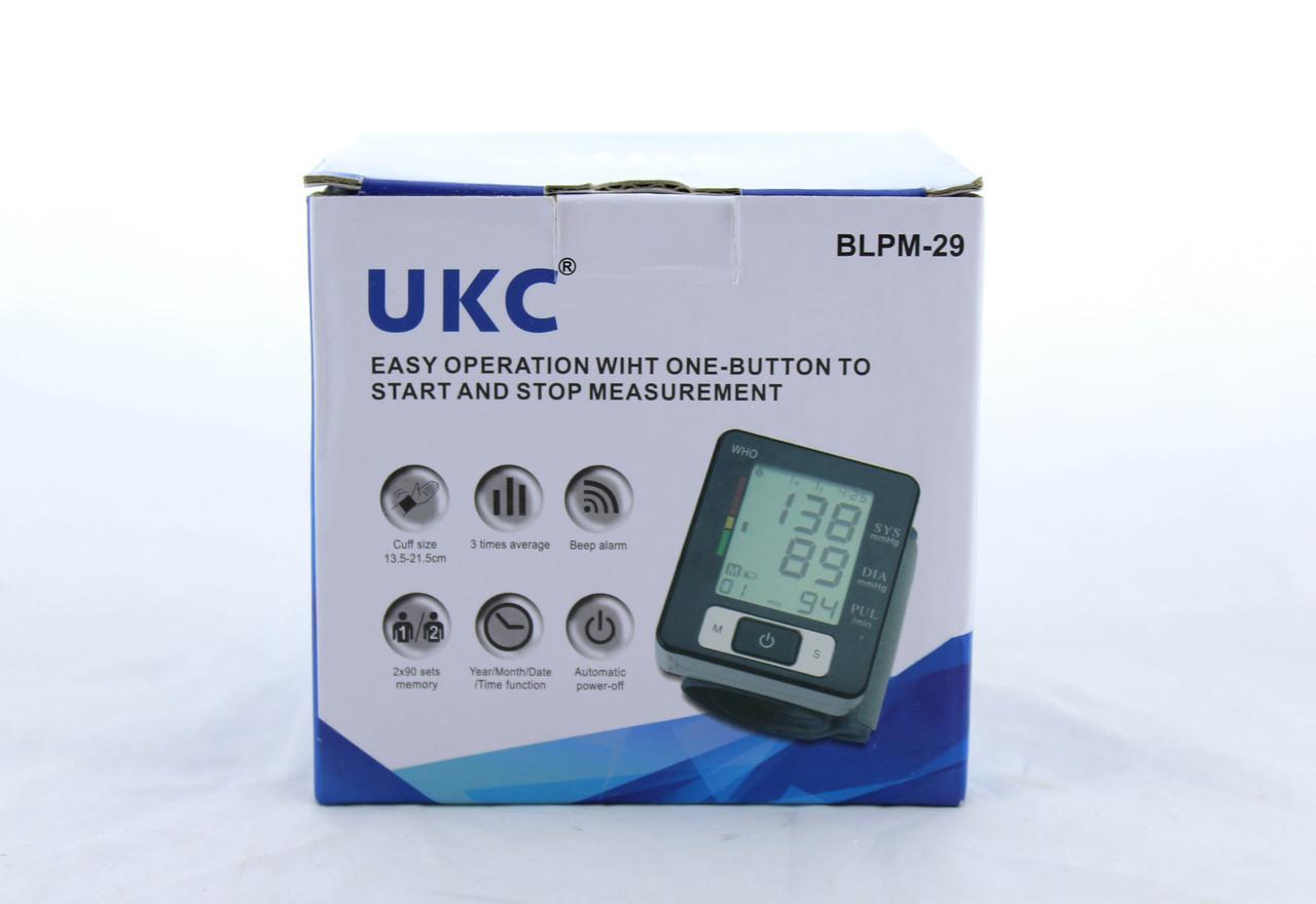 Тонометр UKC BLPM 29 / Автоматический тонометр для измерения давления и пульса / Тонометр на запястье