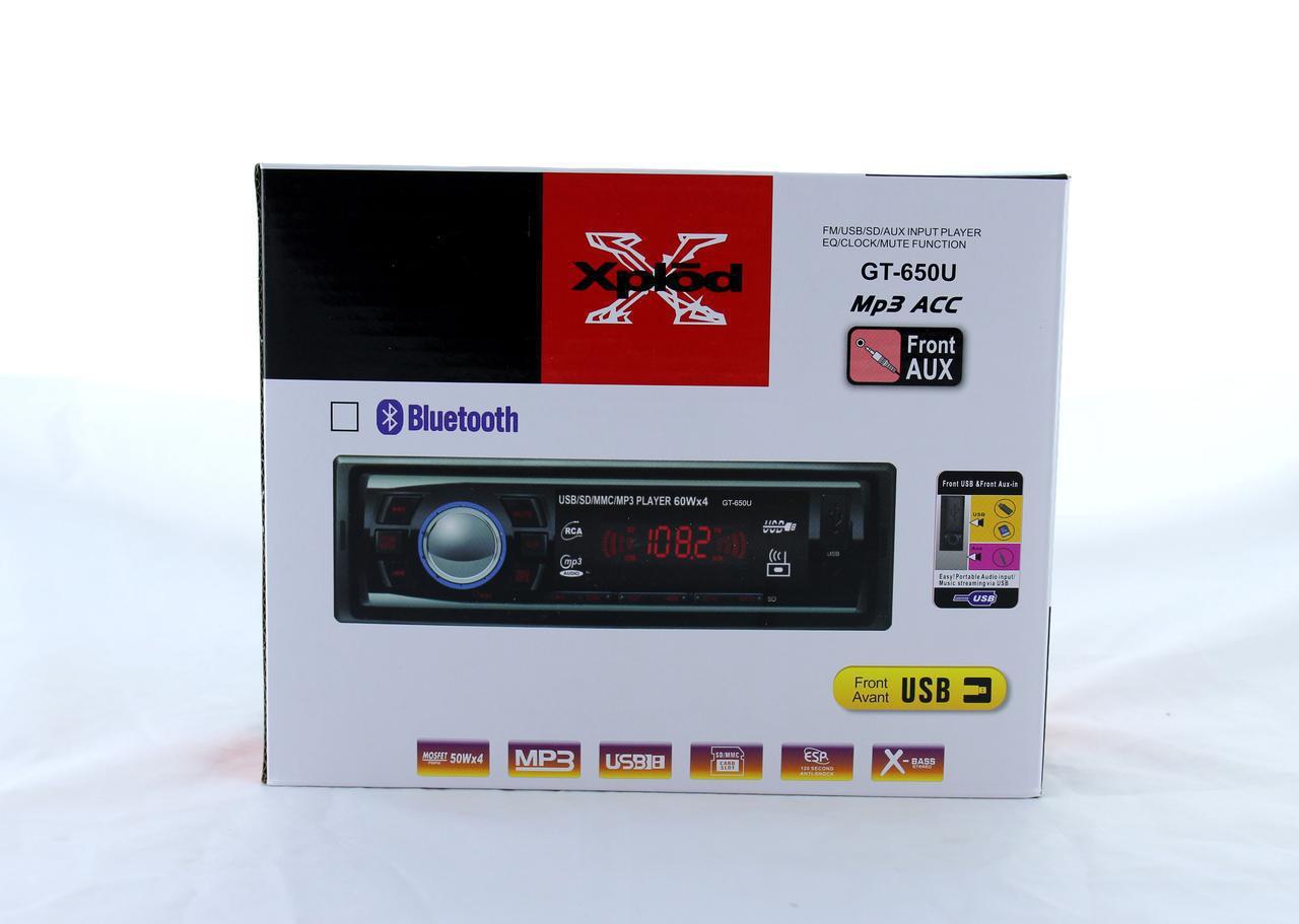 АвтомагнитолаGT-650U ISOMP3 + USB флешки / SD карты памяти /AUX /FM / 4x50W