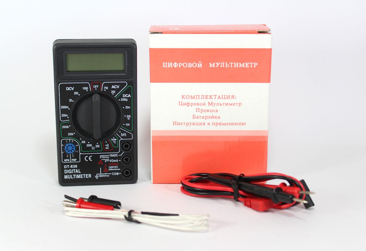 Мультиметр цифровой с ЖК дисплеем DT 838