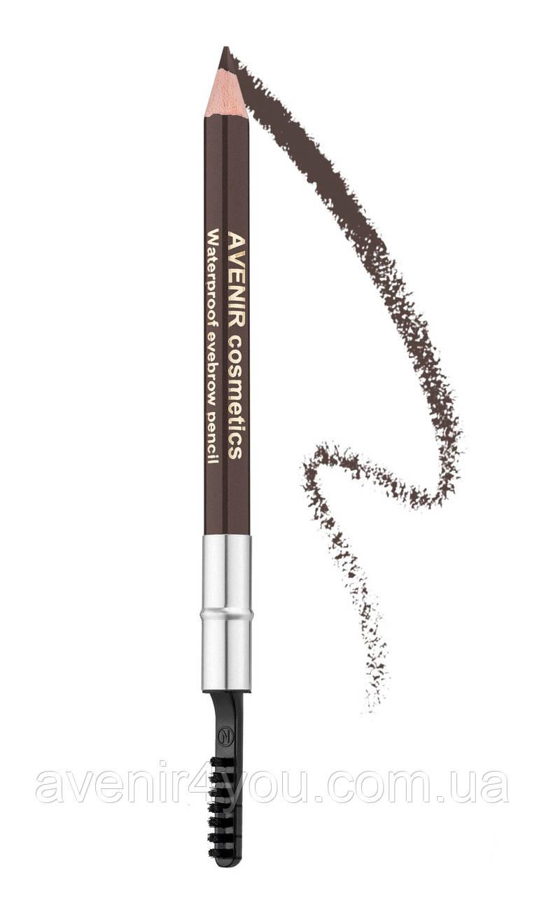 Олівець для брів №80 Темний шоколад з попелом