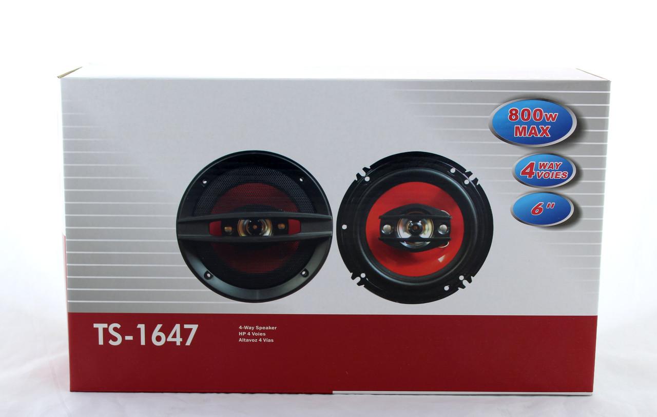 Автоколонки TS-1647 / Автомобильная акустика / Динамики в машину / Колонки в машину / Акустические колонки