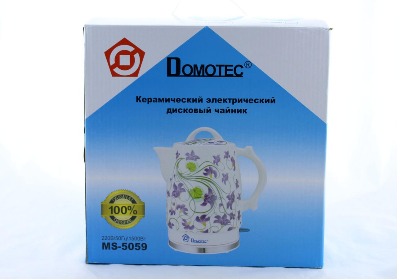 Чайник Domotec MS 5059керамический /электрочайник / 2L