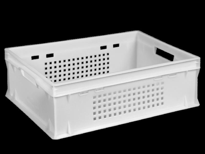 Пластиковый ящик перфорированный Е2 600х400х200 мм
