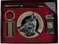 Подарочный набор Moongrass Пепельница, ручка, брелок, зажигалка 724