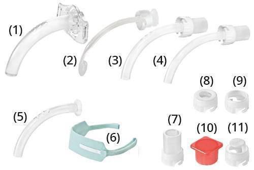 Набор для трахеостомии (Трубка KAN 9.0 без манжеты) фенестрированная, фото 2