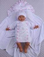Набор для крещения 3в1 (крыжма, сорочка, шапочка) для девочки