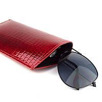 Чехол для очков кожаный Loren G1-RS red