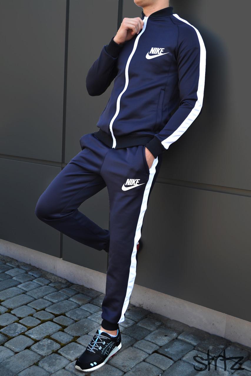 6a03dd27 Мужской Спортивный Костюм Nike Темно-Синий Очень Качественный Спортивний  Костюм Чоловічий L