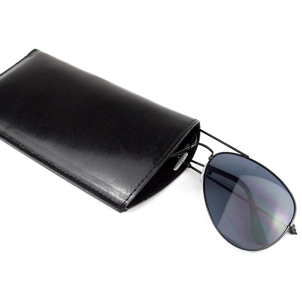 Чехол для очков кожаный Loren G1 black