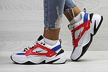 Подростковые кроссовки Nike M2K Tekno,белые c красным 39р, фото 2