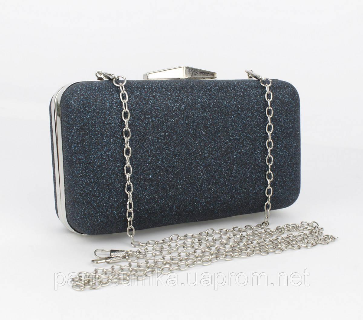 62988eb9a89c Вечерний клатч Rose Heart 09829 черный с блестками, сумочка на цепочке ,  фото 1