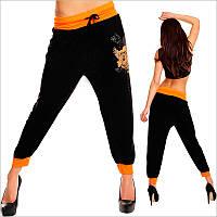 Женские спортивные штаны с принтом