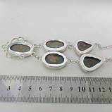 Унакит намисто натуральний унакит в сріблі., фото 3