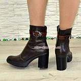 """Женские кожаные демисезонные ботинки, декорированы ремешком из натуральной кожи """"крокодил"""", фото 2"""