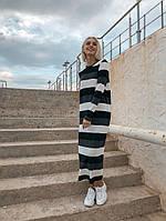 Женское Платье-макси в полоску, фото 1
