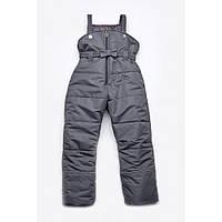 Зимний полукомбинезон для девочки (графит) 03-00462-4 Модный карапуз