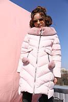 Зимняя куртка на девочку Ясмин крем